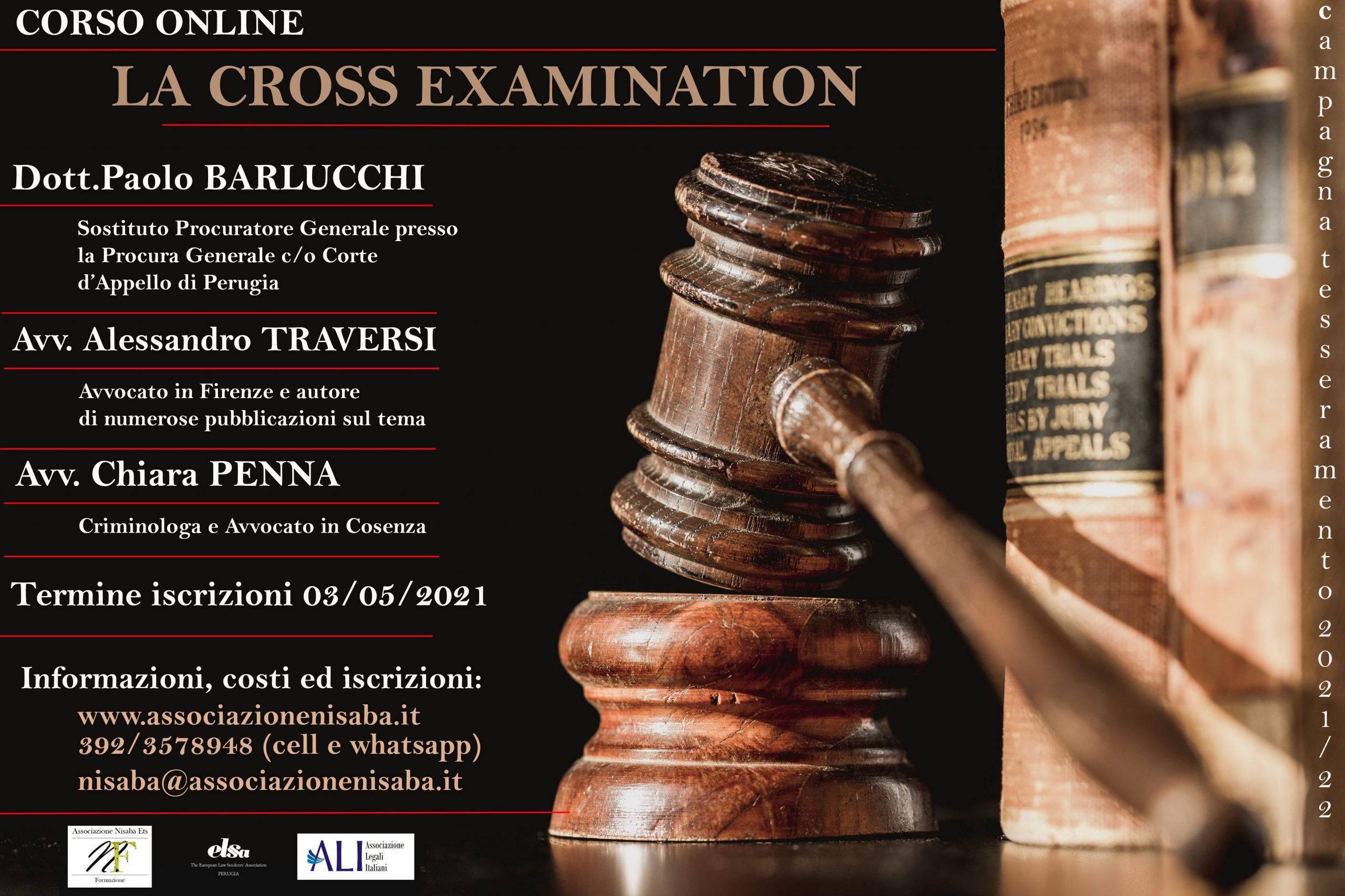 Corso Online la Cross Examination
