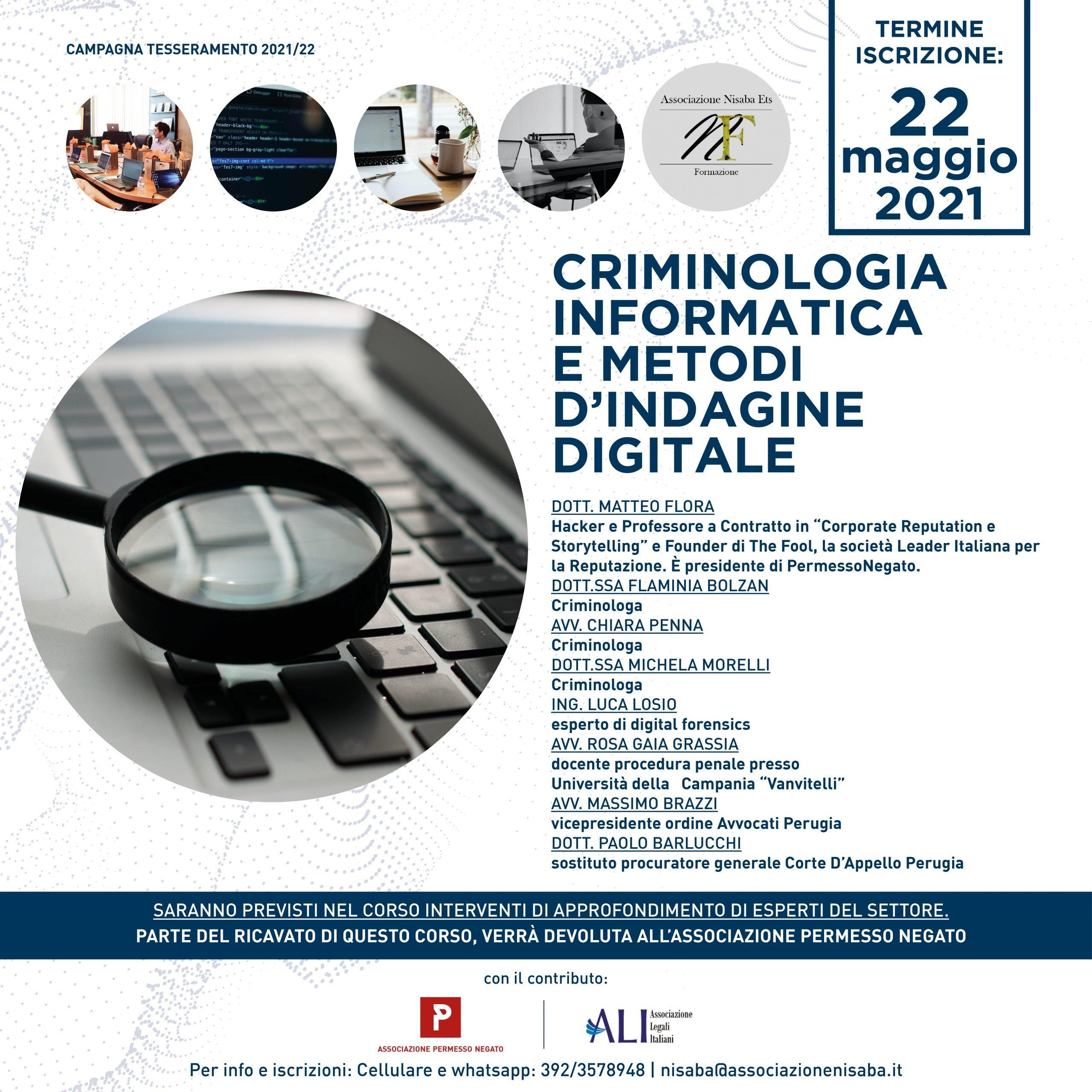 criminologia informatica e metodi d'indagine digitale